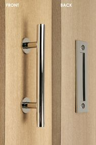 Pull and Flush Door Handle Set  (Polished Finish)