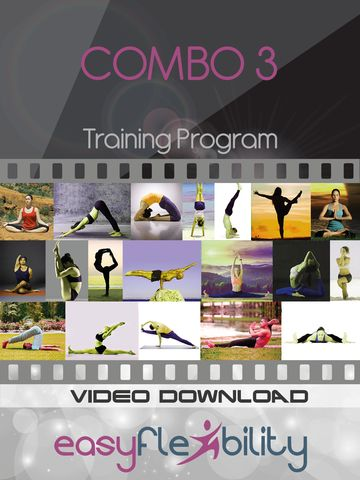 Yoga COMBO3 - 19 videos!  In this DVD you will learn everything that you need in order to get your butterfly stretch! www.easyflexibility.com