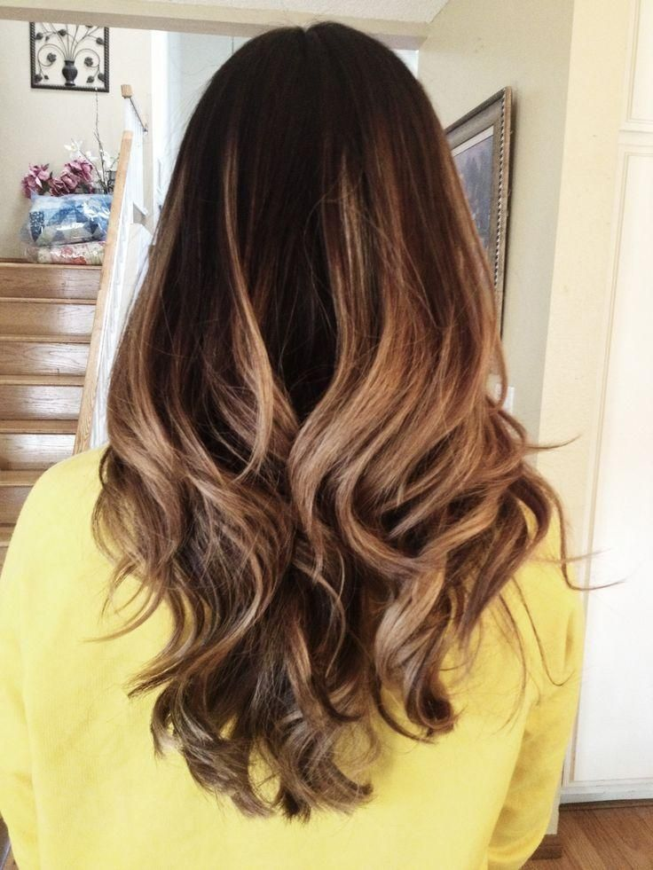 I really like the colors that are in her hair but instead of ombre I would do a partial head of highlights fading from that to the dark