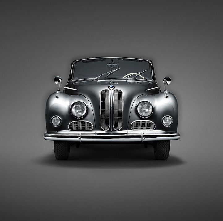 Bildende Kunst klassischer BMW Automobile