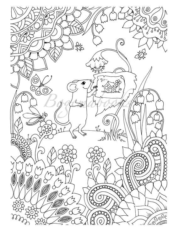 Mouse Peep S House All Ages Coloring Book Digital Pages Etsy Coloring Books Coloring Pages Quote Coloring Pages