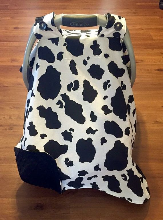 Dairy Cow Print Black and White Car Seat by FromMeinhartToYours