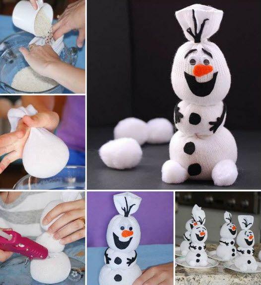 Comment faire le bonhomme de neige Olaf avec une simple chaussette • Quebec echantillons gratuits