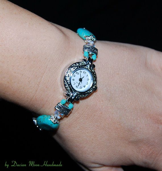 Morning Dew watch beaded watch women's wrist by DacianMoonHandmade