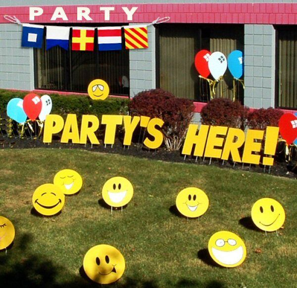 Smiley Face Theme First Birthday Party - Birthday Party Decoration Ideas
