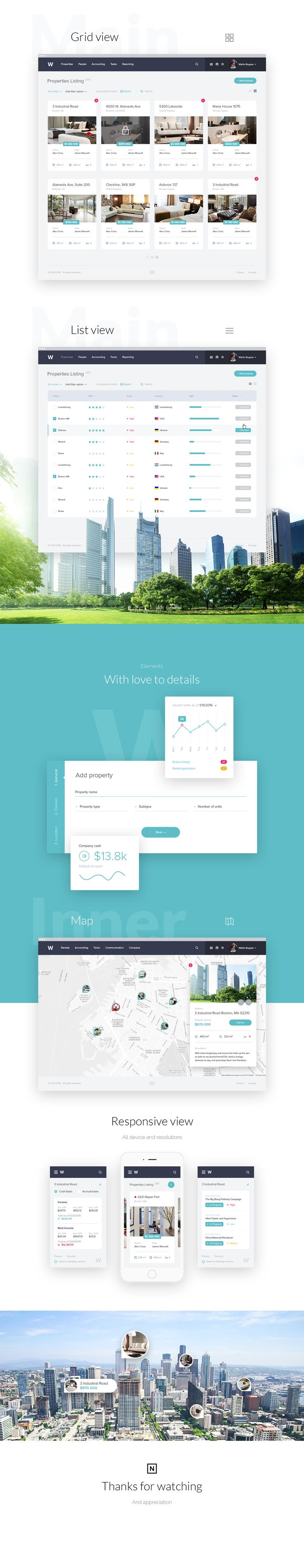 Real Estate Website Design on Behance