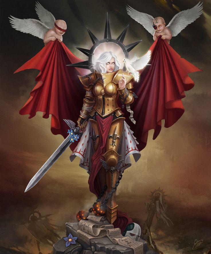 warhammer-fan-art:  Saint by Baklaher