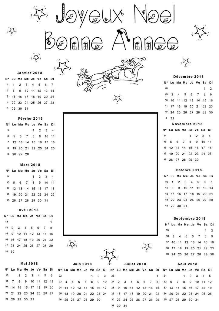 noel 2018 calendrier Calendrier 2018 Joyeux Noel Bonne année   École   Pinterest  noel 2018 calendrier