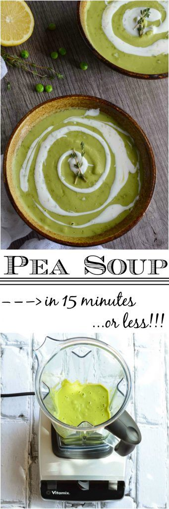 Easy Pea Soup Recipe made in the Vitamix