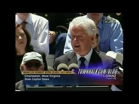 Bill Clinton ATTEMPTS to Justify Robert Byrd's KKK Membership