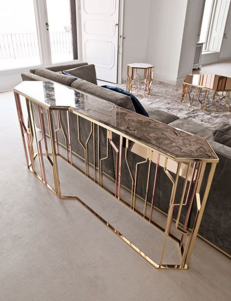 LONGHI console table. #interiordesign #casegoodsideas moder home decor, interior design ideas, casegood inspirations. See more at http://www.brabbu.com/en/inspiration-and-ideas/category/trends/interior