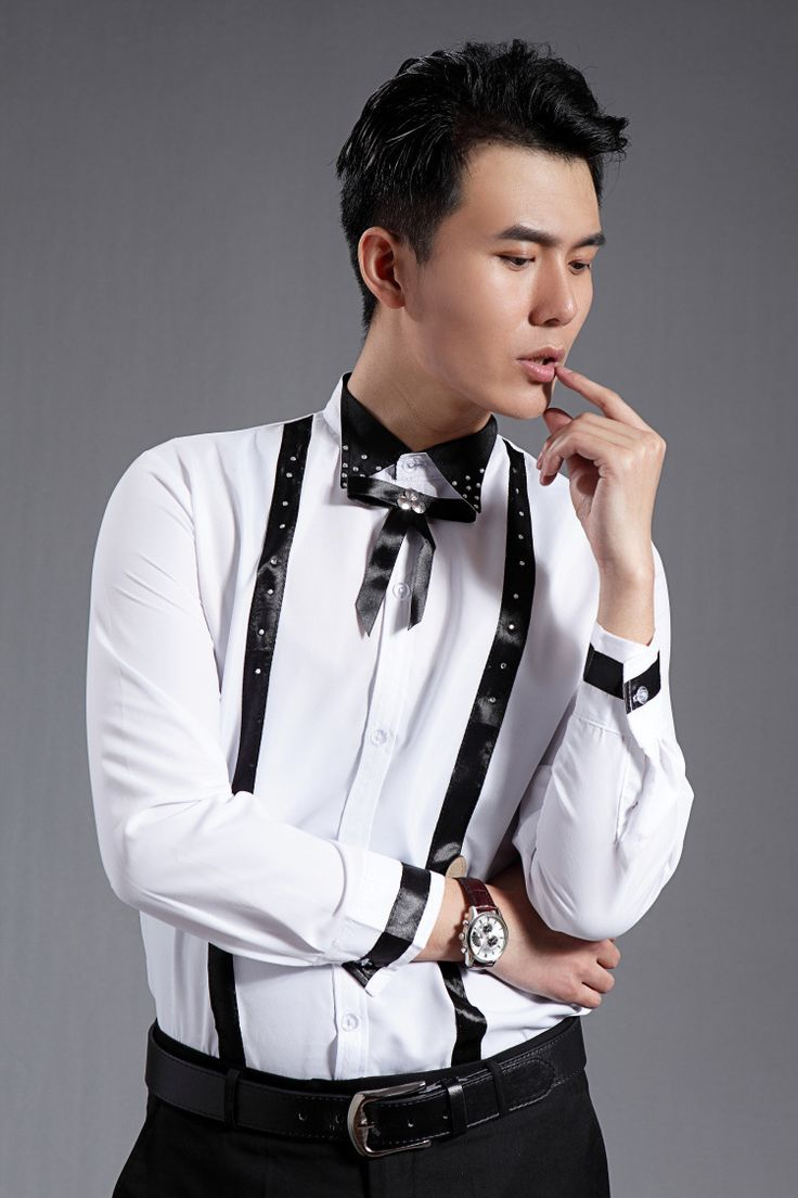 >> Click to Buy << PYJTRL Wedding Groom Groomsmen White Long-sleeved Fashion Shirt Casual Stage Show Men Clothes Shirts  #Affiliate