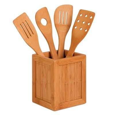 Honey Can Do KCH-01080 Four Utensils and Kitchen Caddy