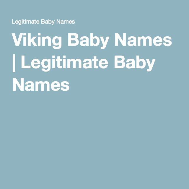 Viking Baby Names | Legitimate Baby Names