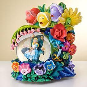 Disney Snowglobes Collectors Guide: Alice in Wonderland Golden Afternoon Snowglobe