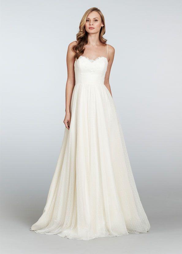sweet wedding dress, organic wedding dress, backyard wedding dress, Blush by Hayley Paige Dahlia gown available at Wildflower Bridal