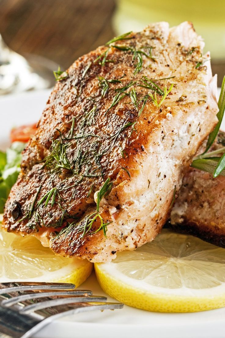Melt in Your Mouth Broiled Salmon with Butter and Herbs Recipe with Garlic, Worcestershire Sauce, Lemon Juice, White Wine, and Dill