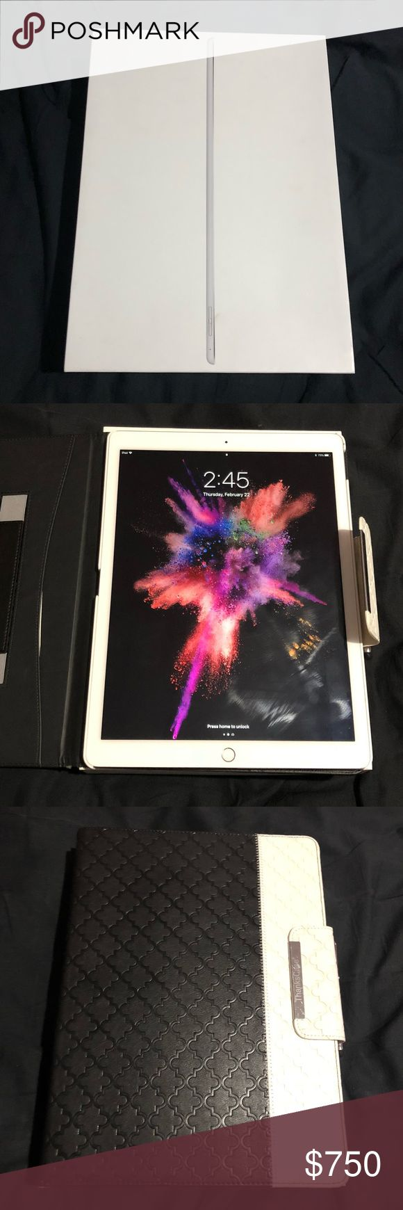 "Apple IPad Pro 12.9"" - 128GB W/ ACC Apple IPad Pro 12.9"" - 128GB WiFi with Accessories 🔥PRICE NEGOTIABLE🔥  Geek Squad Certified. Just purchased. Barely touched - EUC  Includes: All original Accessories ( manual, charger, decal, box) Swivel Case Stylus Screen Protector ( already applied on IPad ) Apple Accessories"