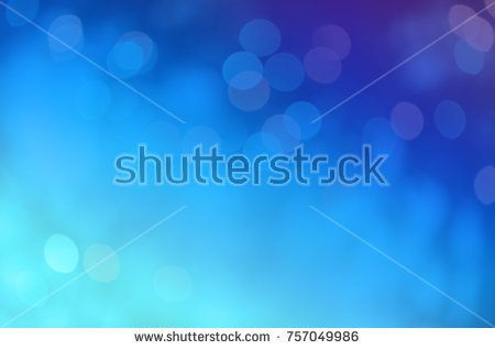 Blue abstract bokeh background. Abstract blurred lighting