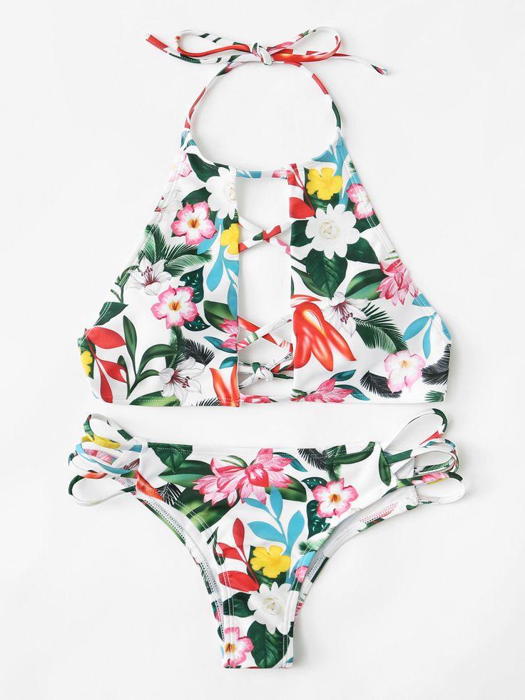 Shop Flower Print Criss Cross Bikini Set online. SheIn offers Flower Print Criss Cross Bikini Set & more to fit your fashionable needs.
