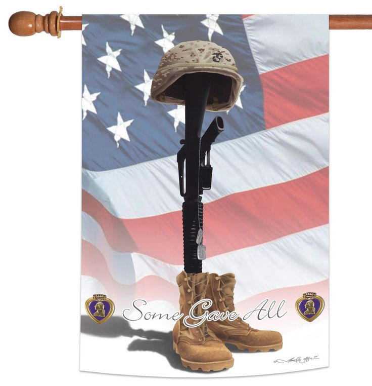 NEW Toland - Some Gave All - Support Remember Military War Veteran House Flag #TolandHomeGarden