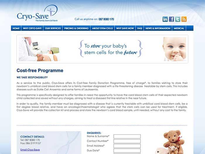 Cryo-save Website