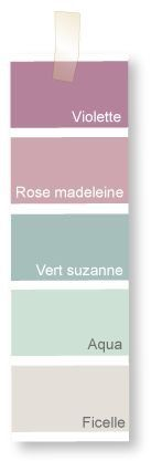 Paleta de colores para el cuarto de Victoria