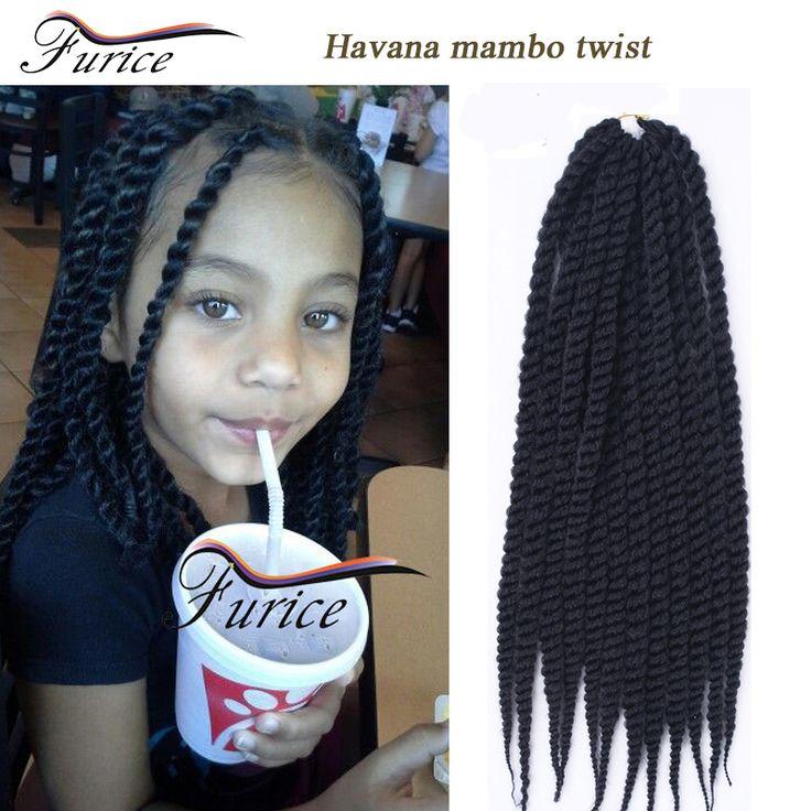 "Crochet Braid Hair extension curly 12/14/16"" Havana twist Crochet Senegalese Twist Synthetic Box Braiding Hair crotchet braids"