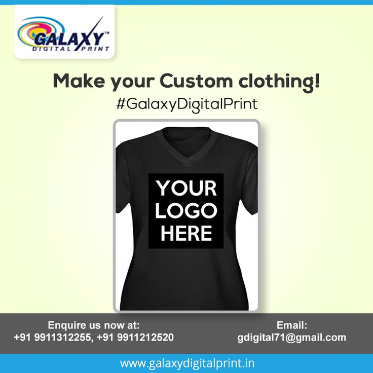 Get ready for your next event with #CustomLogoPrinting on your T-shirt at very competitive edge, only at #GalaxyDigitalPrint