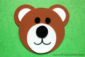 Circles Bear craft - learn about circles, sizes, and body parts with this easy bear craft
