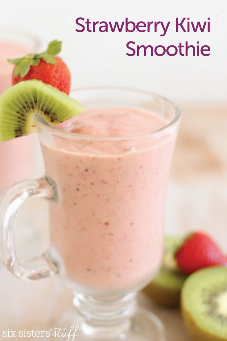 Strawberry Kiwi Smoothie | Recipe | Strawberry Kiwi Smoothie, Kiwi ...