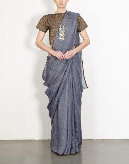 Lead Grid Linen Sari-Anavila