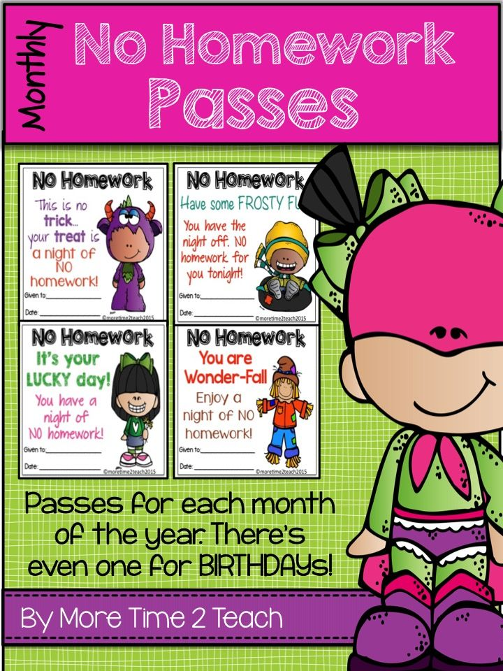 No Homework Pass Superhero