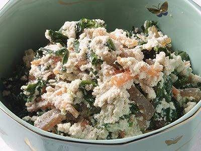 佐々木 道枝 さんの「ホーレン草とコンニャクの白和え」。【食と地域を考えるフォーラム 元気な食をいただきます。in 広島】 NHK「きょうの料理」で放送された料理レシピや献立が満載。