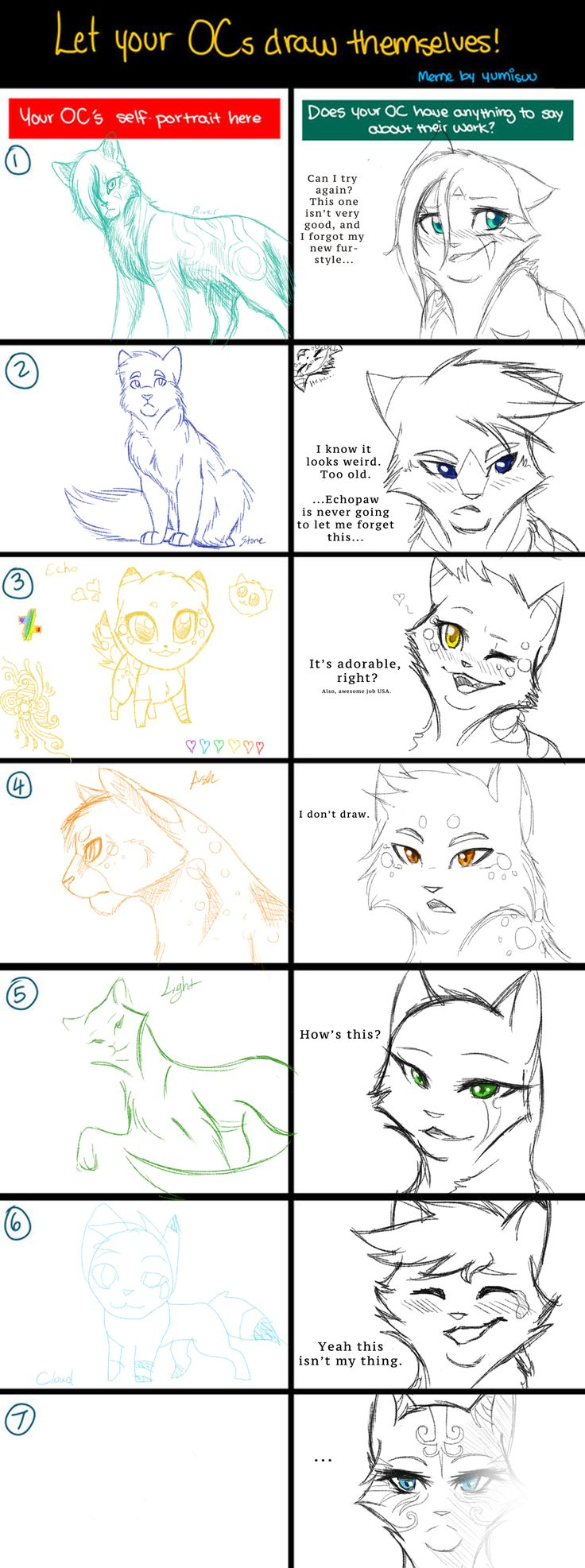 Draw Themselves Meme by RiverSpirit456 Warrior cats