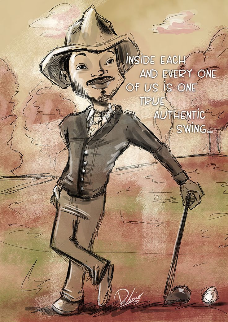 Will Smith as Bagger Vance - caricature sketch by Ribosio