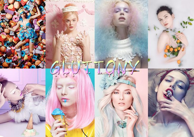 Gluttony - Sickenly sweet, brightly coloured, dripping frosting. An image of indulgence and waste.