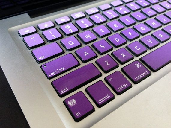 Ombre Purple Girl Faded iMac MacBook Pro and by simplyvinyl345