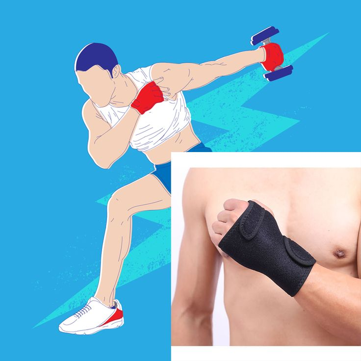 1 Pair Wrist Brace Splint Support Training Protector Wrist Wraps for Wrist Pain, Sprain, Carpal Tunnel, Gym Fitness Bands, Black