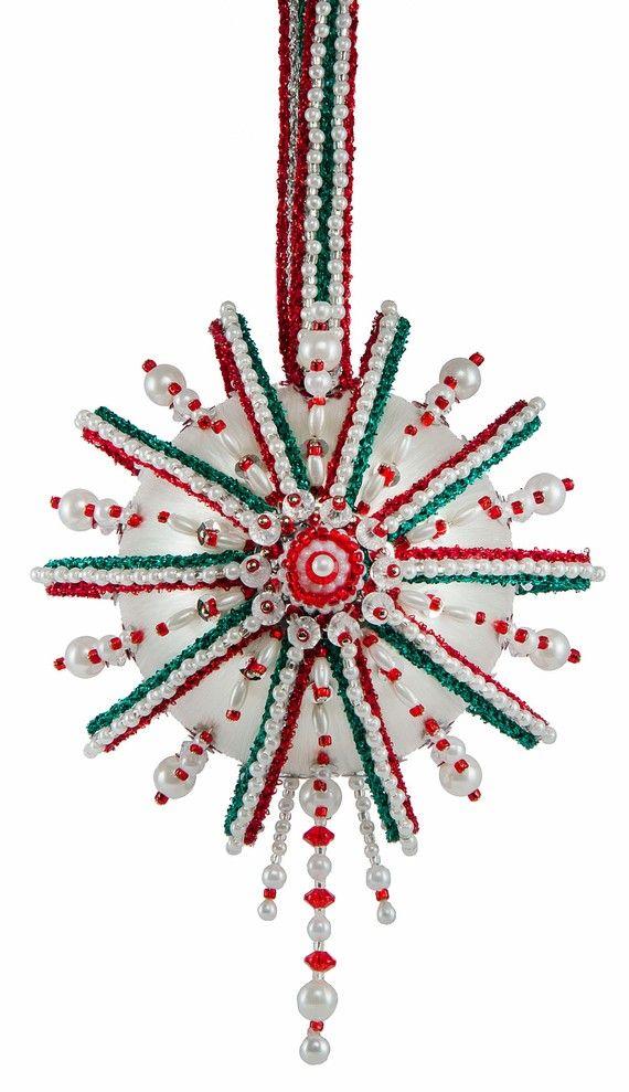 "The Cracker Box Inc Beaded Ornament Kit ""Beneath The Sea"" on Etsy, $38.75"