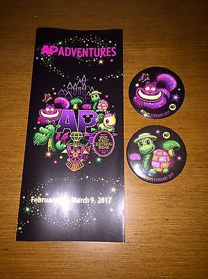 Disneyland AP Button Cheshire Cat Turtle Main Street Electrical Parade Annual