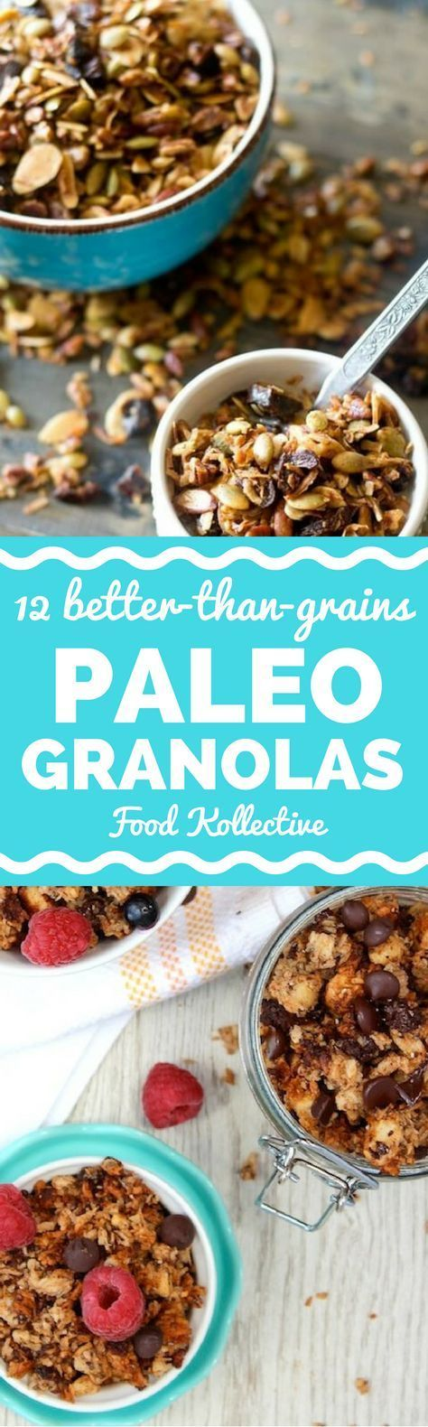 I was looking for Paleo granola recipes and these look delicious! They are filled with nuts and other healthy ingredients. There are recipes for grain free granola, coconut granola, chocolate granola, and more. They would be perfect for a quick and easy Paleo breakfast. Collected on http://FoodKollective.com