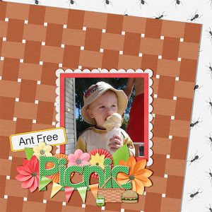 Layout by KittenScraps using Racoon Picnic Kit also by KittenScraps