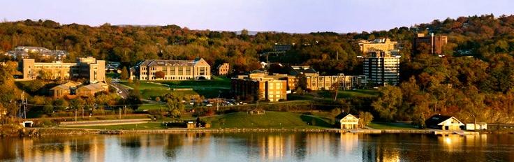 Marist college on the Hudson in Poughkeepsie, New York
