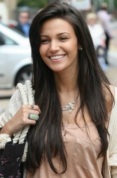Hair colour. Doesn't hurt that it's also Tina from coronation street.... Long beautiful, rich, dark brown hair. Super healthy too!