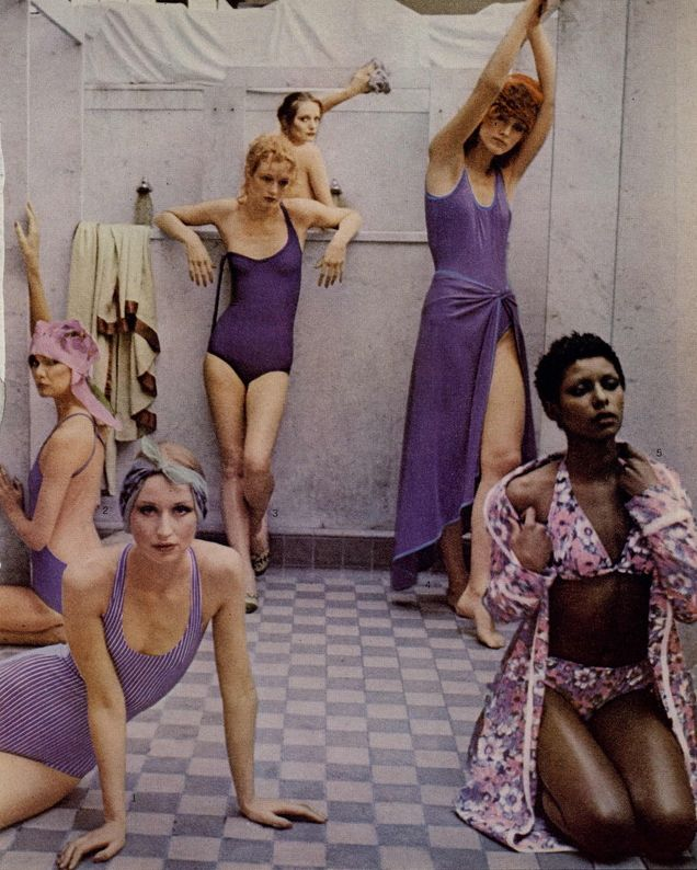 Photo by Deborah Turbeville, May 1975, There's more to a bathing suit than meets the eye, Editorial from Vogue.