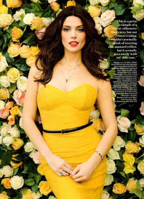 Ashley Greene by Ruven Afanador for Lucky Magazine (March 2012). L'Wren Scott dress.