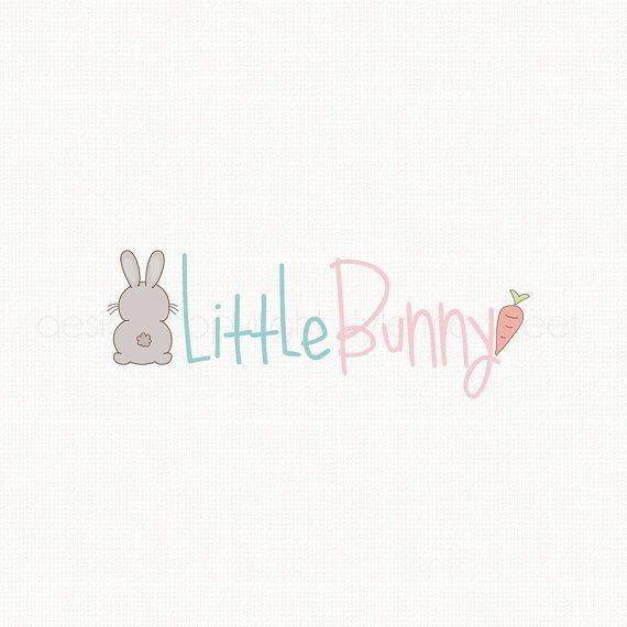 Premade Bunny Logo Design Children's Boutique Logo by stylemesweetdesign