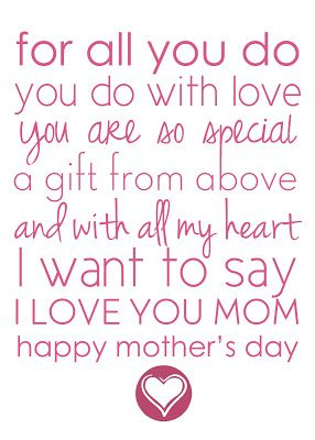 here is a cute mothers day poem that i found online xx