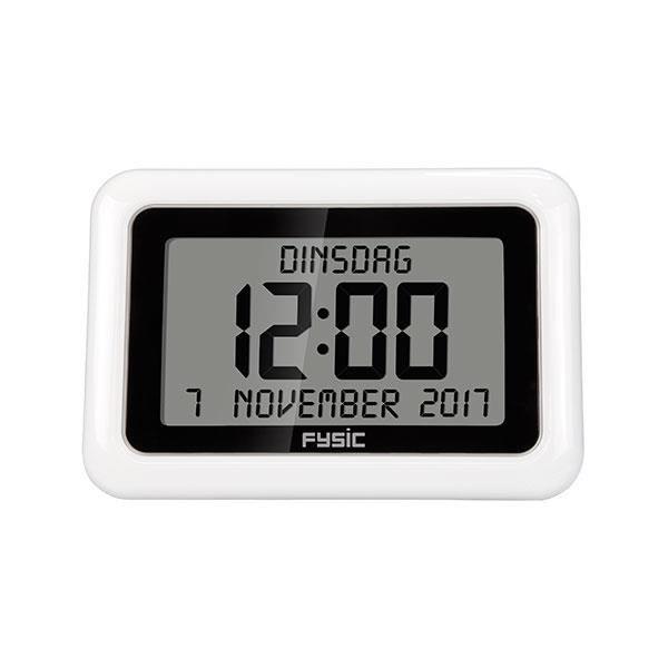 Digitale kalenderklok | Fysic FK-888  De digitale kalenderklok van Fysic de FK-888 is de nieuwste kalenderklok van Fysic. Deze nieuwe kalenderklok van Fysic werkt net als de analoge kalenderklok van Fysic op batterijen. Het nieuwe model betreft echter een digitale kalenderklok en toont hierdoor de tijd digitaal in plaats van analoog. Wat de FK-888 kalenderklok uniek maakt is de combinatie van de grote cijfers op het scherm en het feit dat deze radiografisch is. Dit wilt zeggen dat de tijd…